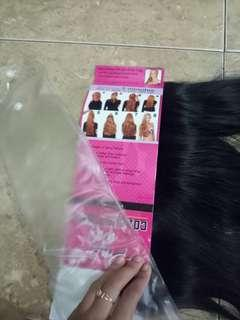 Hair clip.Hitam panjang lurus