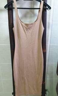 Zara Nude Bodycon Mini Dress #SnapEndgame