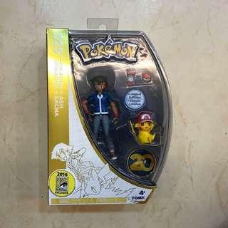 [BNIB] Tomy 025 Pikachu Ash Figurine, SDCC Exclusive set