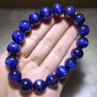 藍晶石水晶手鏈12.5mm