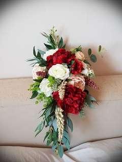 Wedding Flowers :Artificial Cascading Bouquet