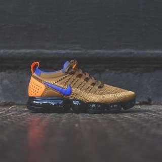 "Nike Air Vapormax Flyknit 2 Colour ""Golden Beige/Blue"" Men's US 8 9 10 11"
