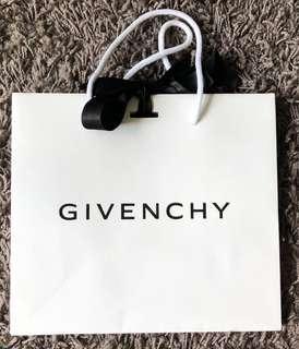 Givenchy paper shopping bag with ribbon