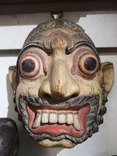 Balinese wooden mask, old