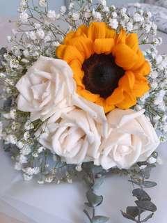 🚚 Sunflower x white rose