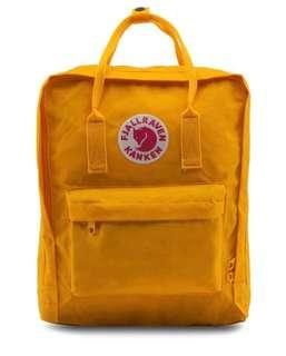 AUTHENTIC Fjallraven Kanken Warm Yellow Classic Backpack