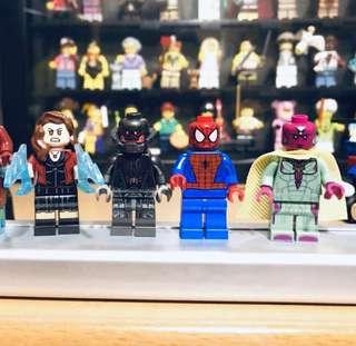 Lego 人仔 minifigures - Scarlet Witch, Ultron, Vision & Spider-Man