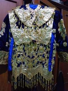 Pakaian pengantin anak adat sumatra barat