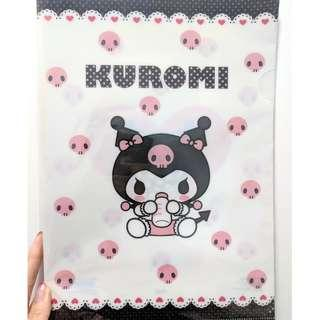 全新Sanrio日版Baby Kuromi A4 folder文件夾 File