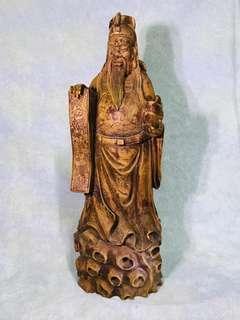 百年樹木 實心財神 God of wealth Sculpture