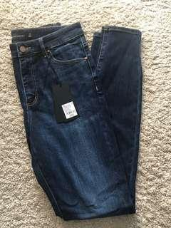Witchery High Rise Skinny Jeans size 10