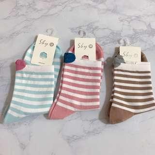 襪子🧦 長襪 條紋