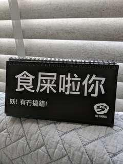 Tee-saurus Cantonese humour table flipchart/ tabletop note pad
