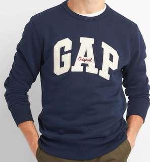GAP Crewneck Pullover, Embroidered Arch Logo