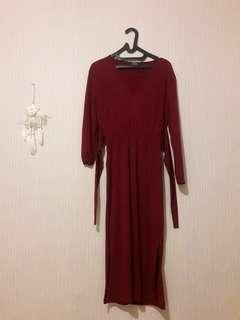 Bershka Dress - Maroon