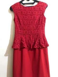 Dress Merah Executive