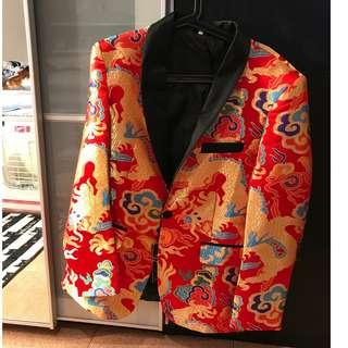 Chinese Red Dragon Blazer / Jacket