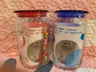 🚚 玻璃儲物罐 750ml兩個 全新