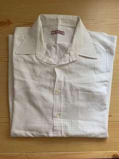 泰國購入🇹🇭全新暗花格仔白色中長裇衫