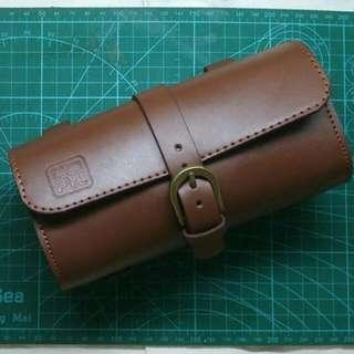 SUNDAY SPECIAL PRICE/ only handful pieces left! Bicycle Leather Saddle Bag (PYL04) ( scooter / vespa / motorcycles / vintage / old school )