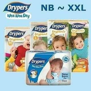 🚚 Drypers Wee Wee Diapers
