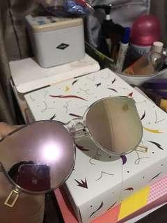 Kacamata fashion pink mirror