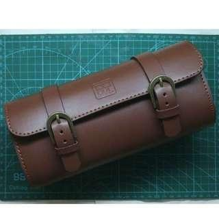 SUNDAY SPECIAL PRICE/ only handful pieces left!  Bicycle Leather Saddle Bag (New Design/ Extra Big) (PYL03) ( scooter / vespa / motorcycles / vintage / old school