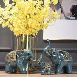 4 Elephants Set 🐘 Elephant Statues Elephant Sculptures Bookself Ornaments Table Ornaments Classic Luxury Home Decors Decor