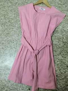 期間限定‼️粉紅色帆布裙