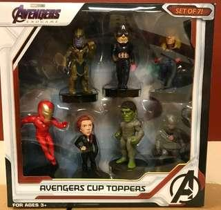 🚚 VERY HOT & VERY RARE!! *Pre Order* Marvel Avengers Endgame Exclusive Official Licensed Limited Edition Movie Premium: A set of 7 Cup Topper with cups! Not Sold in Singapore. #EndgameYourExcess