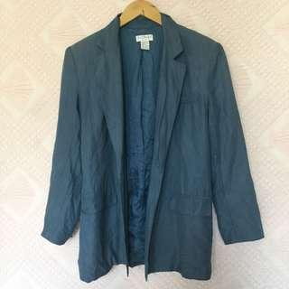 ANN TAYLOR BLUE BLAZER MEDIUM