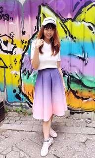 Lavender-pink ombre skirt size M