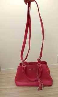Cecil mcbee shoulder bag 日本斜挎包 袋 桃紅色
