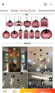 Glass Hanging lights lamps