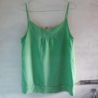 Tanktop hijau green tank top