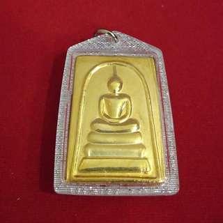 Somdej Amulet with ChinaBunchorn Katha / Wat Rakang / BE2558 / 顺德 佛牌