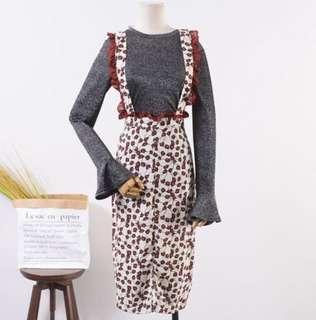 Vintage Dungaree skirt