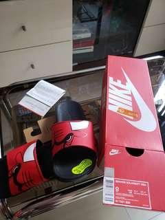 全新 NBA Nike 公牛 拖鞋 , US 9