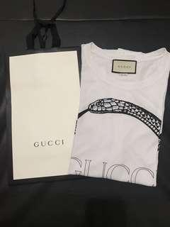 AUTH MENS GUCCI SNAKE RING T-SHIRT