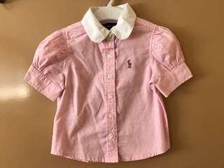 Ralph Lauren pink top with collar