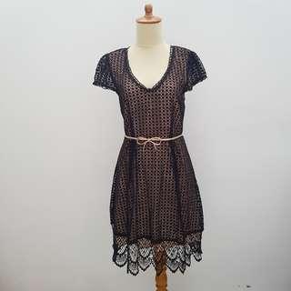 Oasis Black Lace Party Dress
