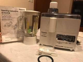 Panasonic 2 in 1 Juicer & Blender MJ-W171P 二合一榨汁機 攪拌機 有盒