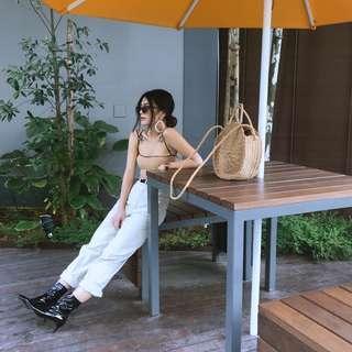 🚚 Round Rattan Bag