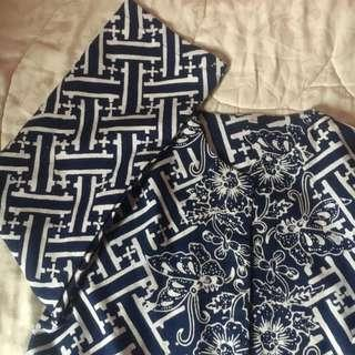 BATIK Navy Tunik Blouse
