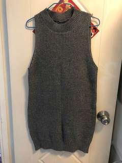 灰色冷背心裙