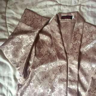 Rose Gold - Brown Brokat Semi Kebaya