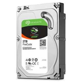 Seagate 2TB FireCuda Solid State Hybrid Drive (SSHD) 3.5'' Internal Gaming Hard Disk