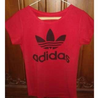 Red Adidas Top