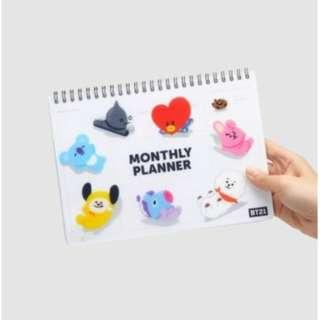 ( PO ) BT21 OFFICIAL monthly planner