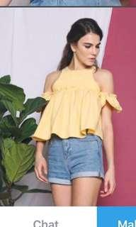🚚 HH Aria Ruche Babydoll Blouse in PINK